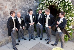 Groomsmen before the ceremony