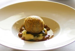 crispy haggis and potato puree