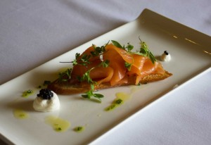 smoked salmon, lemon creme fraiche
