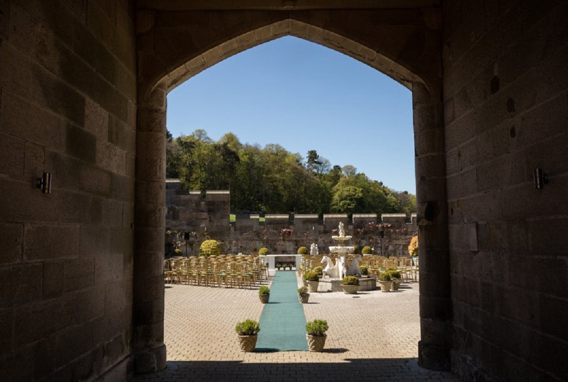 Dundas Castle Real Wedding Blue Sky Photography Outdoor Ceremony