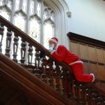 Santa on the bannister