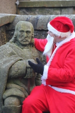 Santa tells Sir Oliver Cromwell what he would like for Christmas