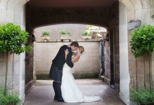 Couple in the archway