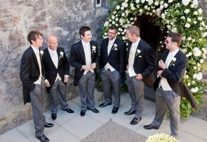 Groomsmen before the ceremony