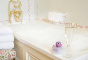 Winter bathroom bubbles