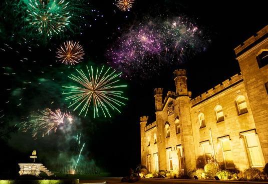 Dundas Castle Fireworks Wedding