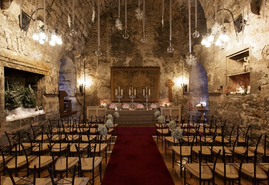 Dundas Castle Winter Wedding Auld Keep