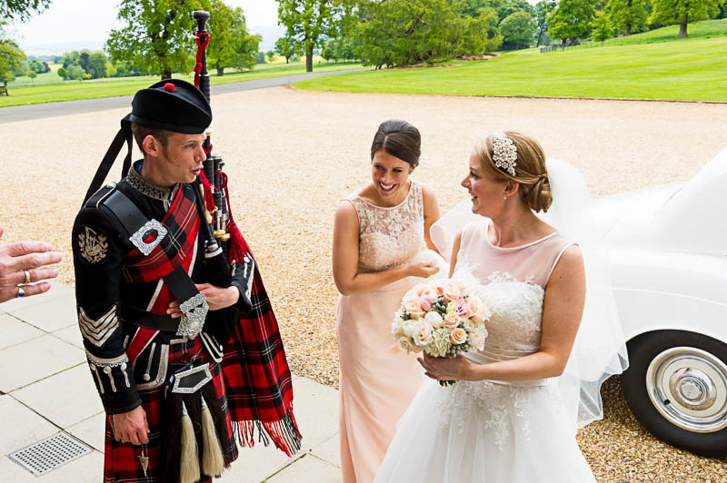 Gemma David Real Wedding Dundas Castle