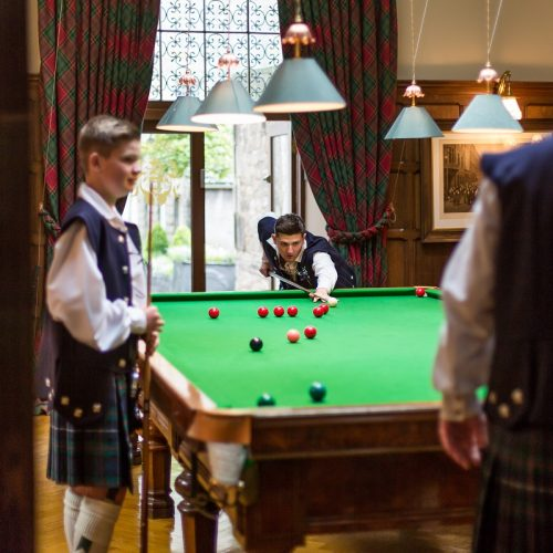 Dundas Castle Billiards Room Wedding