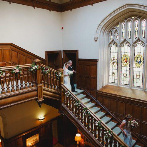 Dundas Castle Staircase Wedding