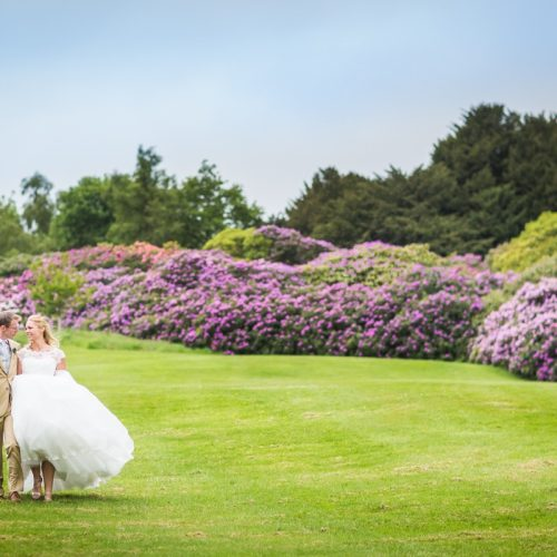 Dundas Castle Wedding Rhodedendrons