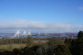Scottish Castle Near Edinburgh and Forth Bridges