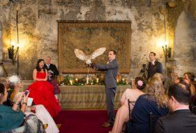 Dundas Castle Wedding Ceremony Owl Ring Bearer
