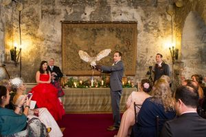 Dundas Castle Wedding Ceremony Owl Ring Bearer