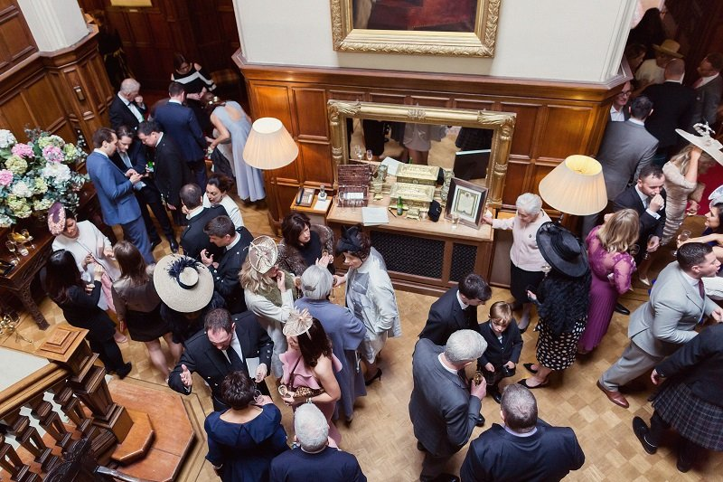 Dundas Castle Real Wedding Drinks Reception
