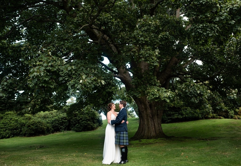 Dundas Castle Real Wedding- Alice and Tom