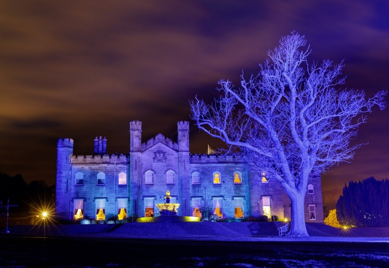 Dundas Castle - blue illumination